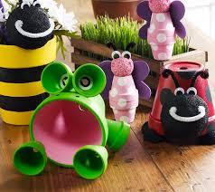 Garden Craft Terra Cotta Marker - clay pot critters clay flower and craft