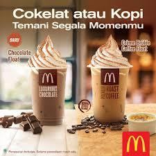 Coffee Mcd mcdonalds new chocolate float dan creme brulee coffee float harga