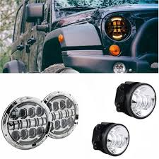 round led lights for jeep 7 inch 80w round led headlights drl projection headl 4 led