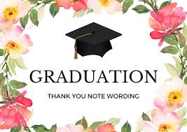 graduation thank you card graduation thank you notes wording for thank you cards