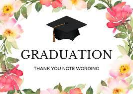 thank you cards for graduation graduation thank you notes wording for thank you cards