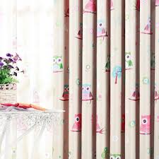 Owl Curtains For Nursery Cheap Rainbow Baby Blue Embossed Nursery Curtains