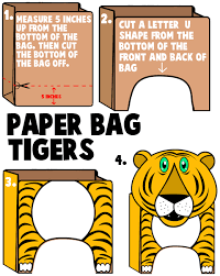 tiger crafts for ideas to make tigers with easy arts and