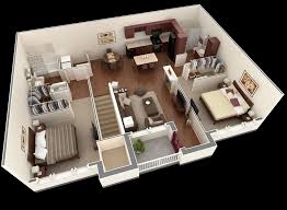 50 3d Floor Plans Lay Out Designs For 2 Bedroom House Or Apartment House Plan Designs In 3d