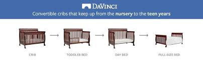 Convertible Crib Mattress Size Davinci Kalani 4 In 1 Convertible Crib Rich Cherry
