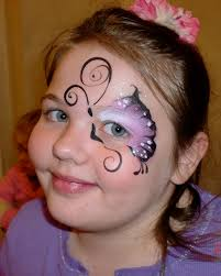 simple cheek face painting ideas face paint butterfly eye