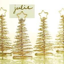 gold tree place card holders table decorations winter