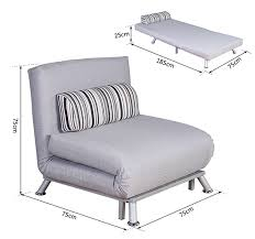 Folding Recliner Chair Folding Recliner Chair Single Sofa Bed Lounger With Pillow Grey