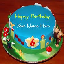 write name on mario and luigi birthday cake picture