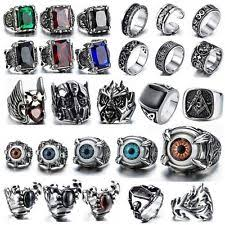 cool mens rings zircon stainless steel rings for men ebay