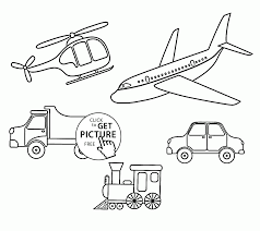 different transportation coloring page for kids coloring pages