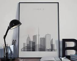 toronto skyline toronto poster toronto decor toronto print