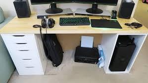 Big Computer Desk Desk Stylish Office Furniture Glass And Silver Desk Big Computer