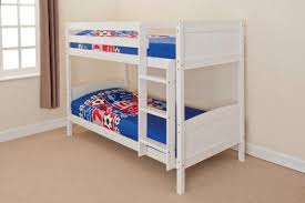 Wooden Bunk Beds Wooden Bunk Bed Kids Childrens Single Pine Or White 3ft