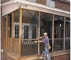 do it yourself screened porch today u0027s homeowner windows and