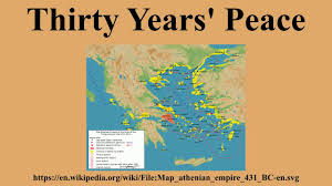 Sparta Greece Map by Thirty Years U0027 Peace Youtube
