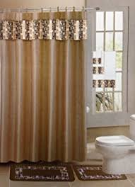 Bathroom Sets With Shower Curtain And Rugs And Accessories Amazon Com Gorgeous Home 1 Shower Curtain 12 Fabric Hooks And A
