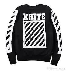 hoodie designer 2017 2016 autumn winter ture brand white hoodie stripes