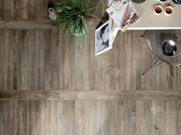 Kitchen Tile Flooring Designs by Wood Look Tiles