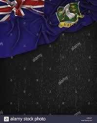 Virgin Islands Flag British Virgin Islands Flag Vintage On A Grunge Black Chalkboard