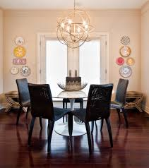 dining room chandeliers contemporary glamorous decor ideas modern