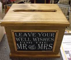 Country Wedding Sayings Wooden Wishing Well Wedding Card Box Assort Sayings Handmade