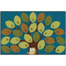 Teal Living Room Rug Carpets For Kids Premium Collection Owl Phabet Tree Teal Area Rug