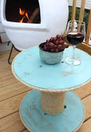 diy nautical spool side table simple stylings