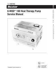 k mod 100 heat therapy pump service manual