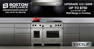 Wolf Gas Cooktops Wolf Upgrade And Save Sale Upgrade Your Range At Boston Appliance
