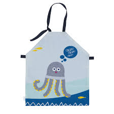 tablier de cuisine enfant tablier enfant de peinture ou cuisine octave le poulpe