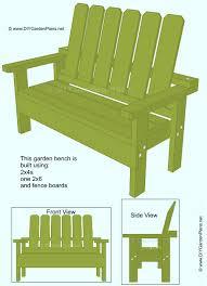 Free Diy Garden Furniture Plans by Free Diy Garden Bench