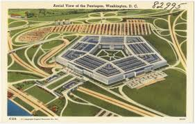 aerial view of the pentagon washington d c digital commonwealth