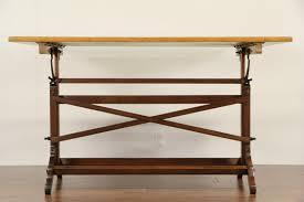 cast iron drafting table sold artist easel drafting table or desk 1940 u0027s adjustable oak