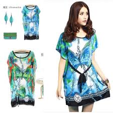 Cheap Summer Clothes For Women New 2014 Cheap Bohemian Fashion Style Vintage Print Mini Dress For