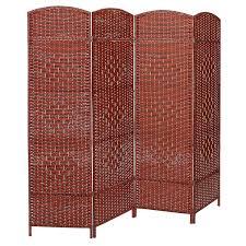 chinese room divider decor freestanding 4 hinged panel woven wood divider screens