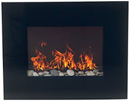 Electric Fireplace Wall by Northwest 80 Ef451s Glass Panel Electric Fireplace Wall Mount And