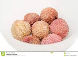 lychee fruit candy the lychee litchi chinensis fruits in a transparent bowl close