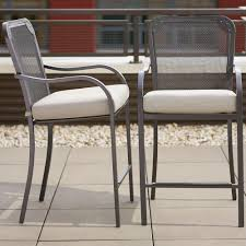 High Patio Chairs Hton Bay Vernon High Patio Dining Chair With Back 2 Pack