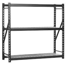 Free Standing Garage Shelves Plans by Shop Freestanding Shelving Units At Lowes Com