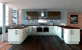 white kitchen units floor nice home design