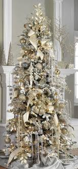 elegantristmas trees silver tree ornaments and