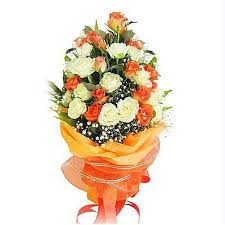 beautiful bouquet of flowers beautiful bouquet of white and orange roses flower