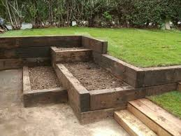 Railway Sleepers Garden Ideas Garden Projects сад и огород Pinterest Garden Projects