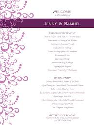 wedding program sles free wedding invitation programs vertabox