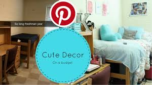 how to decorate your dorm on a budget youtube