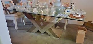 mirrored dining room table set w 8 chairs 70 u0027s hollywood regency