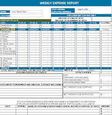 Excel Expense Report Template Ms Excel Weekly Expense Report Office Templates