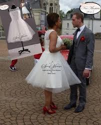 robe de mariã e mairie robe de mariee simple courte en dentelle mariage