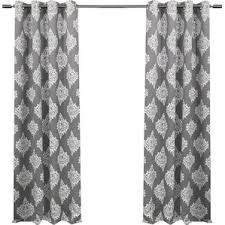 White And Grey Curtains Damask Curtains U0026 Drapes You U0027ll Love Wayfair